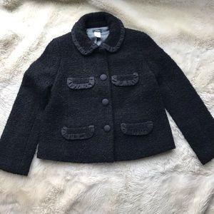 J. Crew Bouclé Tweed Penny Jacket, black
